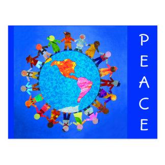 Niños pacíficos tarjeta postal