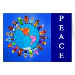 Niños pacíficos tarjetas