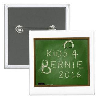 Niños para Bernie 2016 Pin Cuadrado