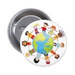 Niños para la paz de mundo pin