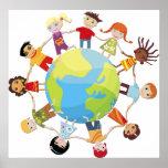 Niños para la paz de mundo posters