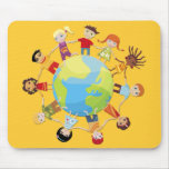 Niños para la paz de mundo tapete de raton