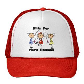 Niños para más hendidura gorra