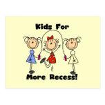 Niños para más hendidura postales