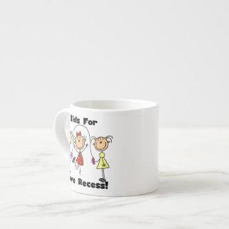 Niños para más hendidura tazas espresso