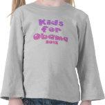 Niños para Obama - rosas en colores pastel - para  Camisetas