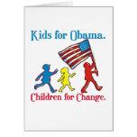 Niños para Obama Tarjetas