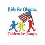 Niños para Obama Tarjetas Postales