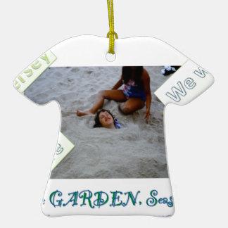 Niños para reconstruir la orilla del jersey adorno de cerámica en forma de camiseta
