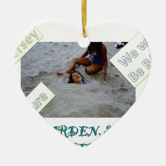 Niños para reconstruir la orilla del jersey adorno de cerámica en forma de corazón