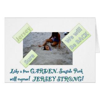 Niños para reconstruir la orilla del jersey tarjeta