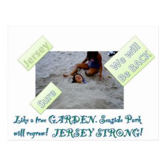 Niños para reconstruir la orilla del jersey tarjetas postales