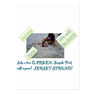 Niños para reconstruir la orilla del jersey tarjeta postal