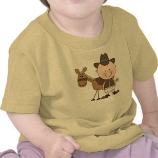 Niños pequeños del niño del potro del vaquero de D Camiseta