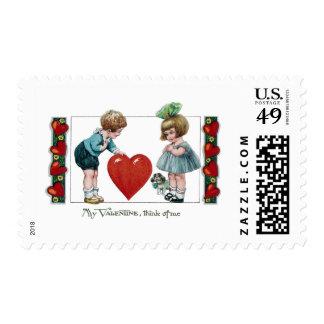 Niños, perro y tarjeta del día de San Valentín Envio