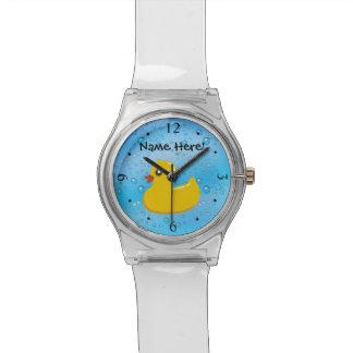 Niños personalizados burbujas azules de goma del relojes de pulsera