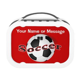Niños personalizados de la fiambrera del fútbol