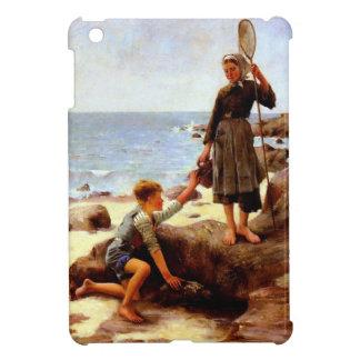 Niños por la pintura del mar