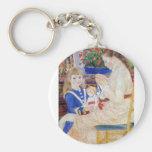 Niños por la tarde en Wargemont por Renoir Llaveros Personalizados