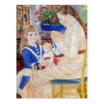 Niños por la tarde en Wargemont por Renoir Tarjeta Postal