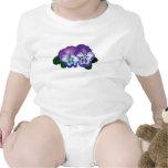 Niños púrpuras del dúo del pensamiento traje de bebé