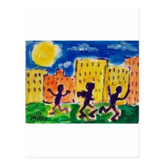 Niños que bailan por Piliero Tarjeta Postal
