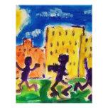 Niños que bailan por Piliero Tarjeta Publicitaria