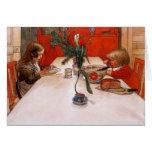 Niños que comen a Supper (1905) Felicitaciones
