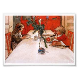 Niños que comen a Supper (1905) Fotografía
