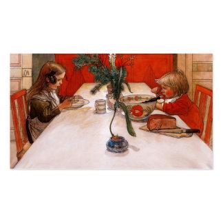 Niños que comen a Supper (1905) Tarjeta De Visita