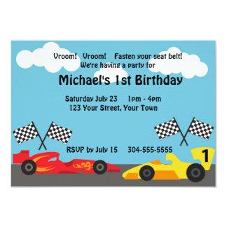 Niños que compiten con a la fiesta de cumpleaños invitación 12,7 x 17,8 cm