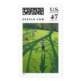 Niños que corren en el parque Derby 2002 Timbres Postales