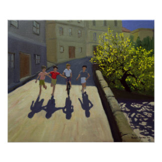 Niños que corren Lesbos 1999 Póster