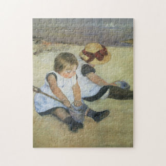 Niños que juegan en la playa de Mary Cassatt Rompecabezas