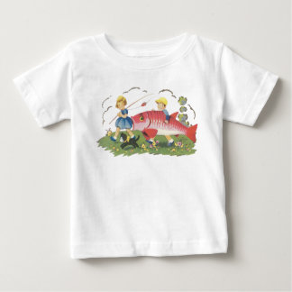 Niños que pescan la camisa - camiseta de los niños