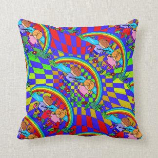 Niños que pescan las almohadas coloridas del sitio cojín decorativo