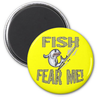 Niños que pescan las camisetas y niños que pescan  imán redondo 5 cm
