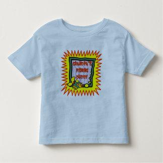 Niños que pescan las camisetas y niños que pescan polera