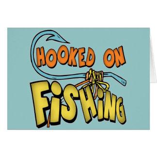 Niños que pescan las camisetas y niños que pescan  tarjeta de felicitación