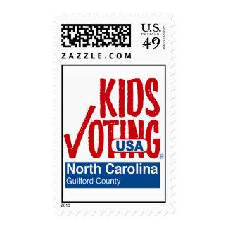 Niños que votan el condado de Guilford NC