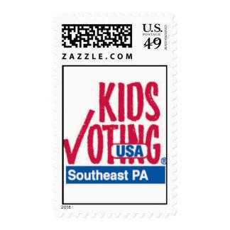 Niños que votan Pennsylvania suroriental