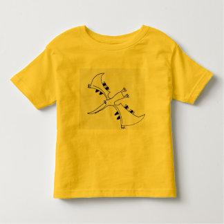 Niños que vuelan la camiseta del dinosaurio playeras