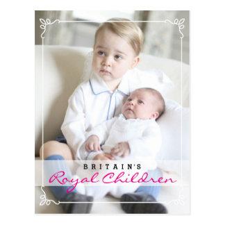 Niños reales - George y Charlotte Postal