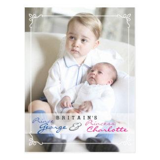 Niños reales - George y Charlotte Tarjetas Postales