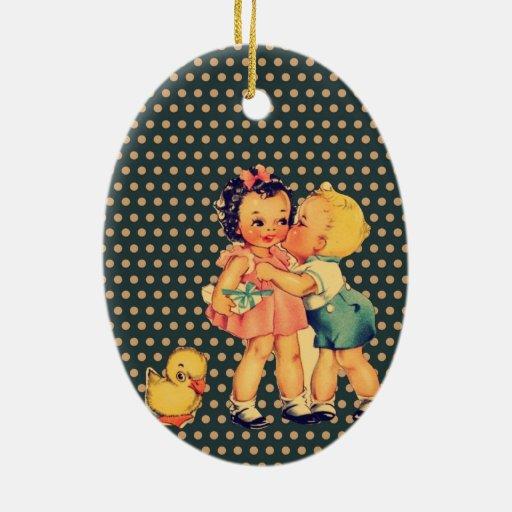 niños retros lindos de la escuela del vintage de l ornaments para arbol de navidad