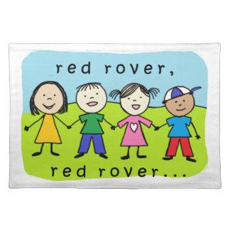 Niños rojos del vagabundo mantel individual