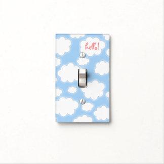 Niños rosados azules del modelo lindo de las nubes placas para interruptor