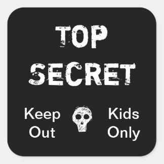 Niños secretísimos pegatina cuadrada