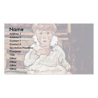 Niños sedentarios de Schiele Egon Plantillas De Tarjetas Personales