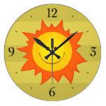 Niños sonrientes felices de Sun del dibujo animado Relojes De Pared